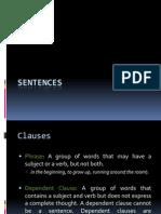 Sentences & Clauses