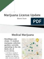 Marijuana Subcommittee Update April 28 - Spokane Washington