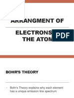 arrangment of electrons in the atom