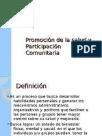 Promoción de la salud y Participación Comunitaria
