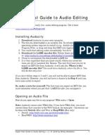 Audacity Guide