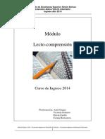 Cursillo 2014_Módulo Lecto-comprensión