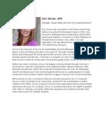Professional Bio Erin Glover