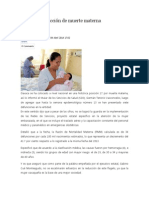 08/04/14 news Histórica reducción de muerte materna