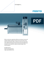 Festo 10 Tips Servos Steppers