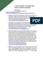 Catálogo de Revistas Arbitradas e Indexadas Sobre Traducción y Literatura Comparada