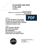OCEANS (WHERE FEET MAY FAIL) - Spanish Official Translation