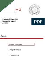 Bain and Company study of Syracuse University