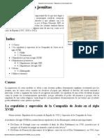 Expulsión de Los Jesuitas - Wikipedia, La Enciclopedia Libre