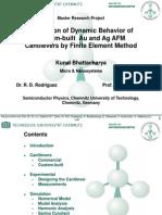 Simulartion of Custom Cantilevers - Kunal Bhattacharya