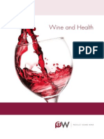 Product Board Wine brochure Wine and Health