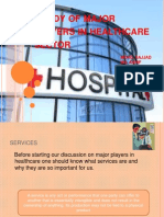 Study of Major Players in Healthcare Sector