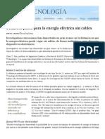 Energía Eléctrica Sin Cables