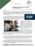 22/04/14 RECONOCEN POBLADORES DE VILLA DE DÍAZ ORDAS COMPROMISO DEL PERSONAL MÉDICO