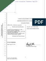 Apple v. Samsung final jury directions