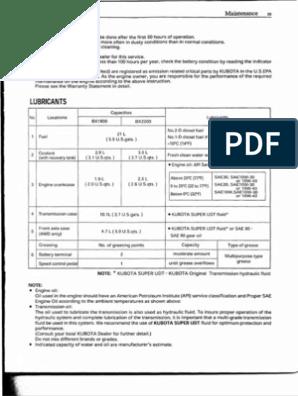 Kubota Bx 2200 Operators Manual | Tractor | Battery