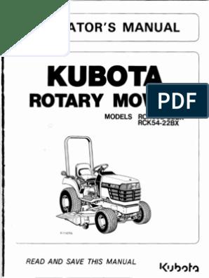KubotaRotaryMowerRCK_60bOR54_22BX | Mower | Tractor
