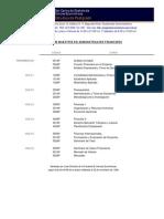 PENSUM MAESTRÍA EN ADMINISTRACIÓN FINANCIERA USAC-CCEE