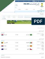 جدول مباريات كأس العالم في البرازيل 2014