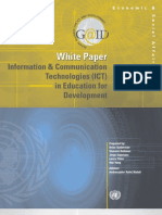 White Paper - Information Communication & Technology (ICT) in Education for Development  - unpan034975