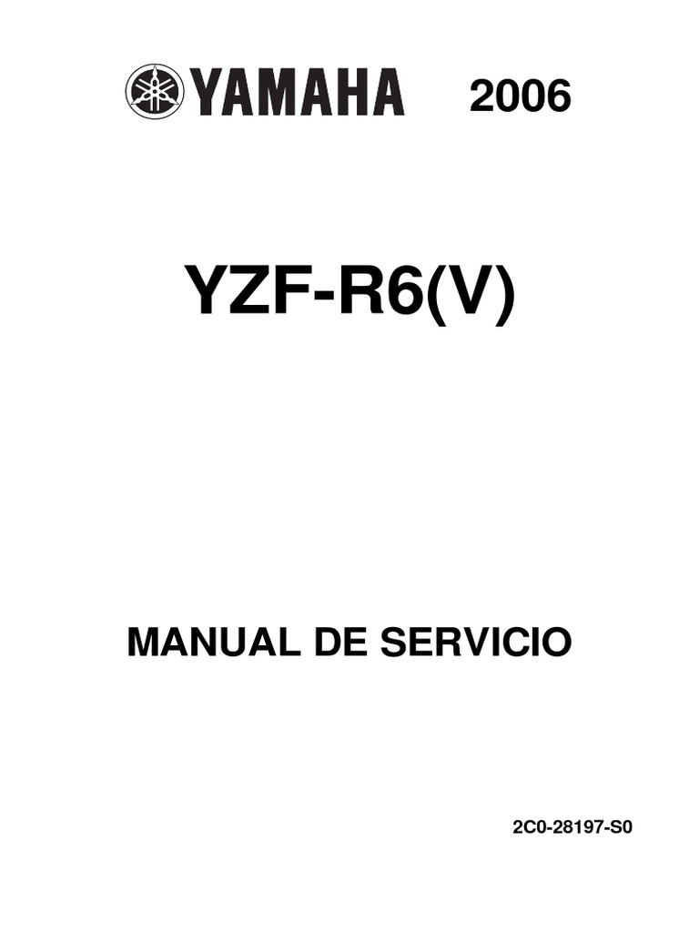yamaha yzf r6 2006 2007 service manual