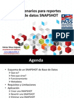 Reportes Con BD SNAPSHOT SQL Server 2008
