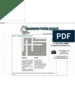 P4SMF X-Word Puzzle handout