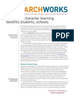 Integrated Character Learning Benefits Students, Schools