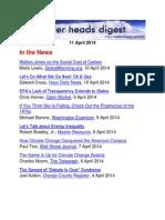 Cooler Heads Digest 11 April 2014