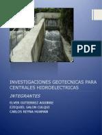 Investigaciones Geotécnicas de Centrales Hidroelectricas