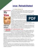 Microfinance Rehabilitated