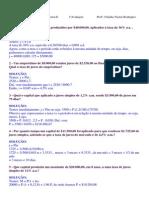 Matemática Financeira II 1ªAvaliação Profº