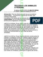 Ley de Protecion Animal DF -reformas 2013