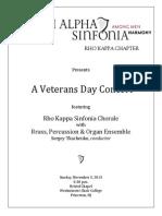veterans day concert program