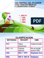 ASC-H - LSIL - HPV - HSIL