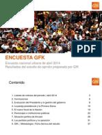 GfK,Encuesta Nacional Urbana, Abril 2014