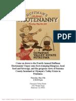 Fourth Annual Huffman Hootenanny