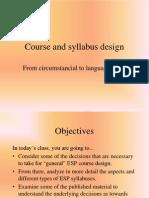 8 Course and Syllabus Design