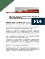 11-04-14 Exige Alfonso Elías al PAN Gobierno no obstruir la rendición de cuentas de servidores públicos