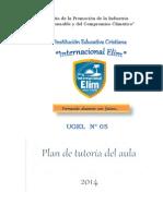 Plan de tutoría del aula - 4° A sec Hugo