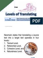 Levels of Translating, by Dr. Shadia Yousef Banjar