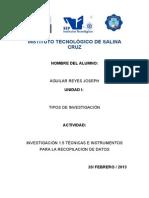 1.5 Investigacion Tecnicas e Intrumentos de Recopilacion de Datos AGUILAR REYES 1
