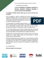 VICE PRESIDENTA DE LA REPÚBLICA MARISOL ESPINOZA Y ASESOR PRESIDENCIAL ALBERTO OTÁROLA RECIBEN A FIORELLA NOLASCO EN PALACIO DE GOBIERNO