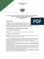 Reglamento de Evaluación JMC 2014