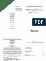 Inwood, Michael - A Heidegger Dictionary, Oxford-Malden, Blackwell 1999