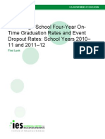 Public High School Four-Year On-Time Graduation Rates and Event Dropout Rates