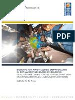 UNESCO Bildung Für Nachhaltige Entwicklung in Der Außerschulischen Bildung-Qualitätskriterien Für Die Fortbildung Von Multiplikatorinnen Und Multiplikatoren Leitfaden2012