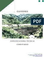 Gaviones Espec.tecn. Comentarios W95