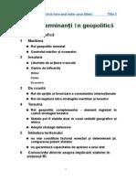 Factori Determinanți În Geopolitică