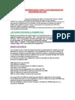 Organización Internacional Para La Estandarización (Iso)